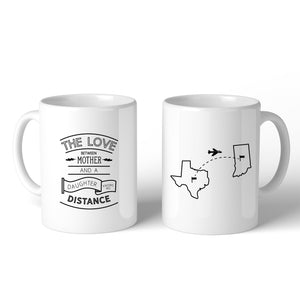The Love Between Personalized Ceramic Mug Mom Gift From Daughters - 365INLOVE