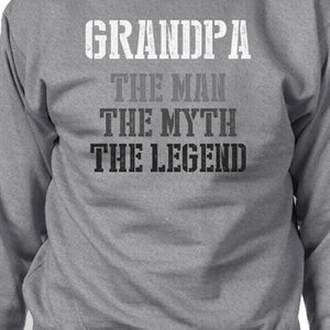 Grandpa Man Myth Legend Sweatshirt Christmas Gift For Grandfather - 365INLOVE