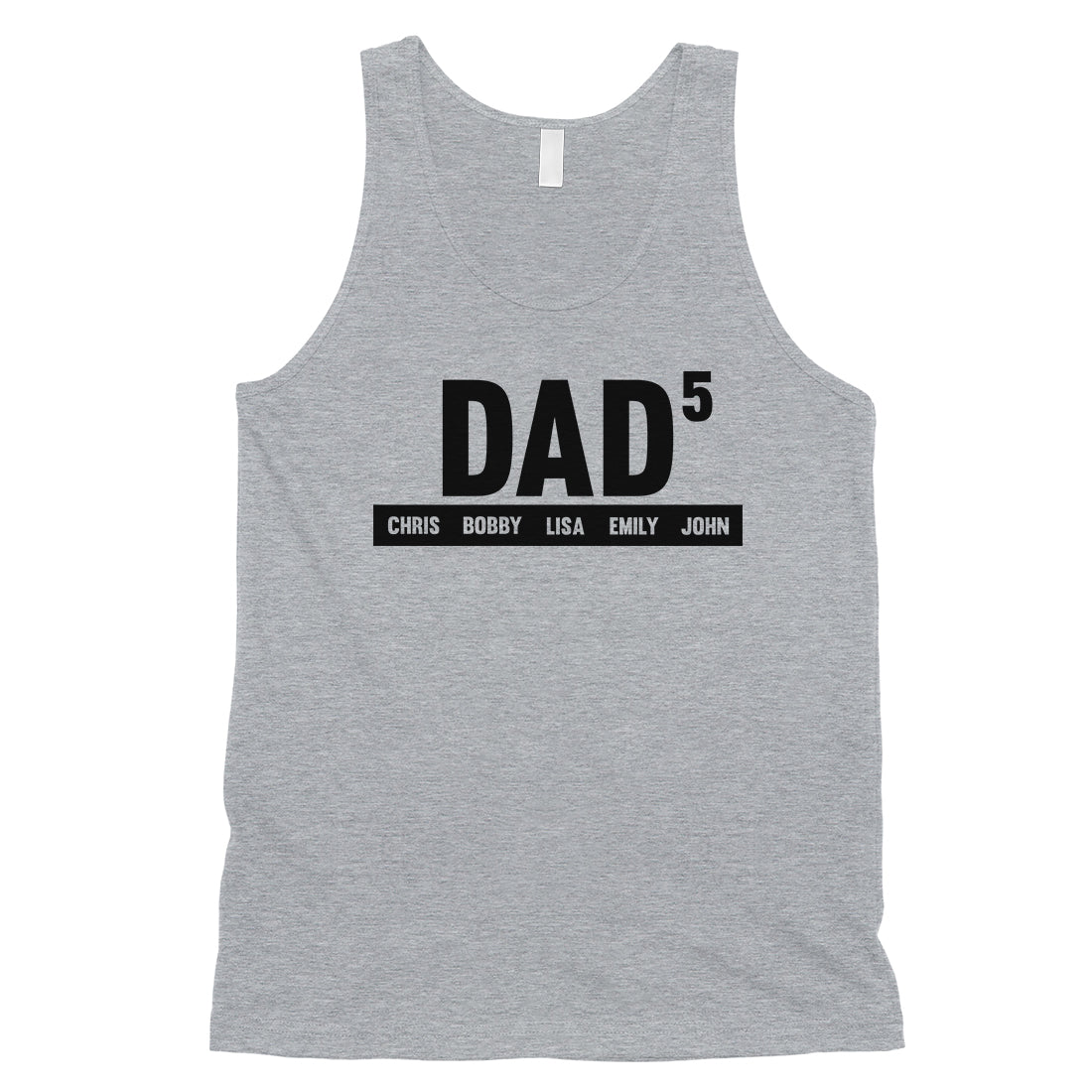 46cc02d9f19c3 Dad Number Of Children Custom Mens Personalized Tank Tops - 365 IN ...