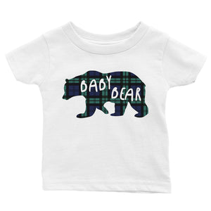 Christmas Bear Plaid Family Matching Outfits Winter Holiday Gift