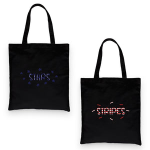 Stars And Stripes BFF Matching Canvas Bags For Mothers Day Gift