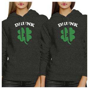 Drunk1 Drunk2 Best Friend Matching Hoodies Gift For St Patricks Day - 365INLOVE