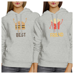 Hamburger And Fries BFF Pullover Hoodies Matching Gift Best Friends