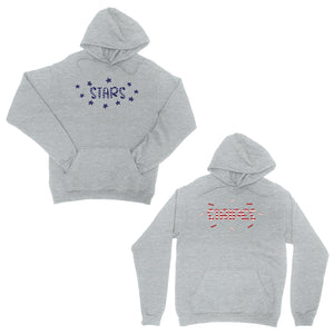 Stars And Stripes BFF Pullover Hoodies Matching Gift For Winter