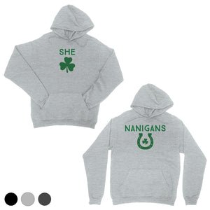 Shenanigans BFF Matching Hoodies Charcoal Grey Pullover Irish Gift