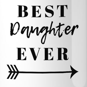 Best Daughter & Mother Ever White Cute Mug Mom Gifts From Daughter - 365INLOVE