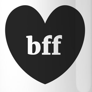 Bff Hearts BFF Matching White Mugs