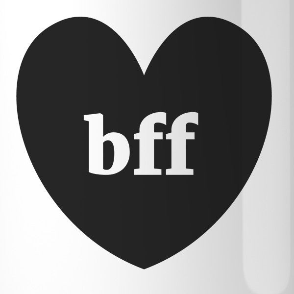 Bff Hearts Bff Matching White Mugs 365 In Love