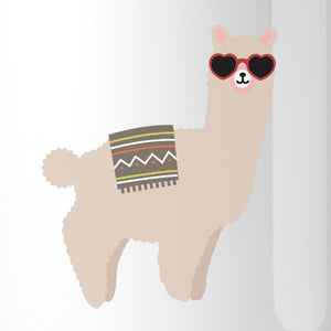 Llamas With Sunglasses BFF Matching White Mugs