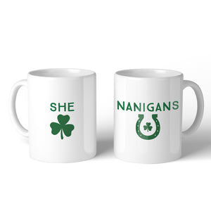 Shenanigans Best Friend Matching Coffee Mugs 11oz Funny Irish Gift