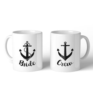 Bride Crew Anchor BFF Matching Gift Coffee Mugs 11 Oz Inspirational