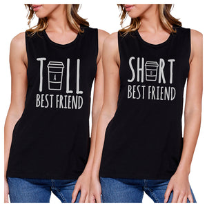 Tall Short Cup BFF Matching Tank Tops Womens Funny Friends Gifts