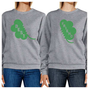 Best Friend Clover Funny Matching Sweatshirt For St Patricks Day - 365INLOVE