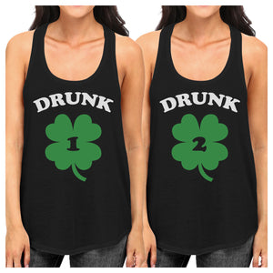 Drunk1 Drunk2 Funny Best Friend Matching Tanks For St Patricks Day - 365INLOVE
