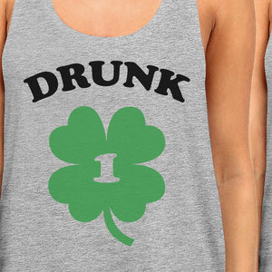 Drunk1 Drunk2 Best Friend Matching Tanks Gifts For St Patricks Day - 365INLOVE