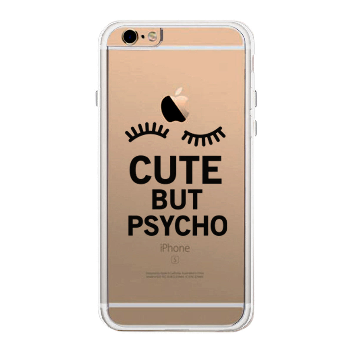 detailed look d64c7 1b0bf Cute But Psycho Funny Phone Case Cute Clear Phonecase