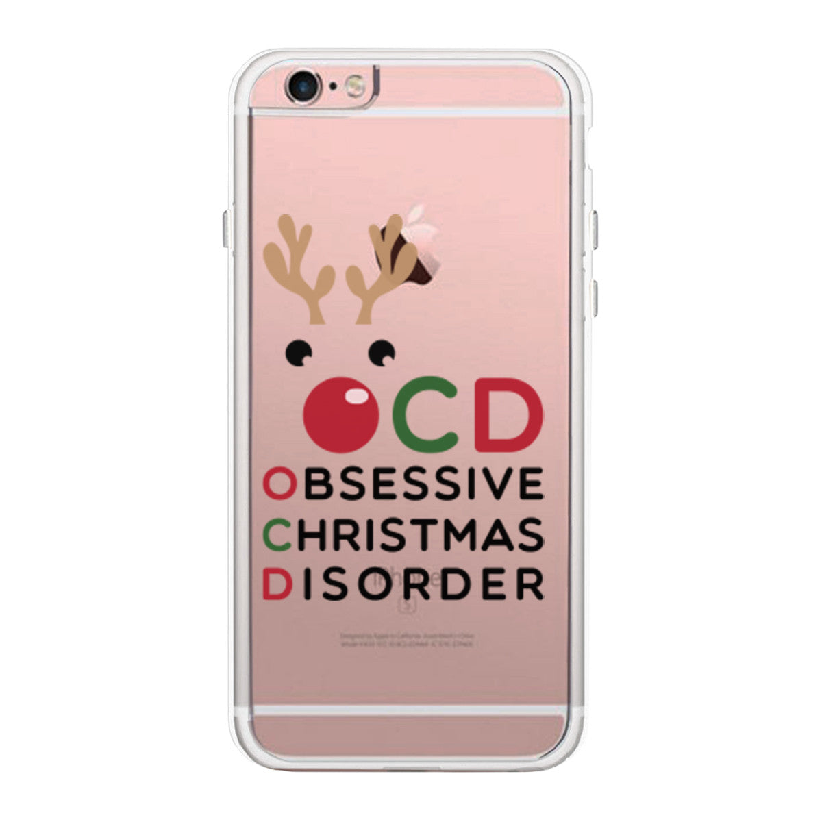 OCD Obsessive Christmas Disorder Cute Clear Phonecase - 365 IN LOVE ...