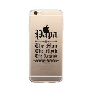 Vintage Gothic Papa Clear Case Funny Christmas Gift For Grandfather