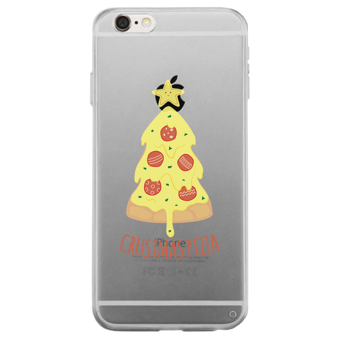 Crustmas Pizza Clear Case 365 In Love Matching Gifts Ideas