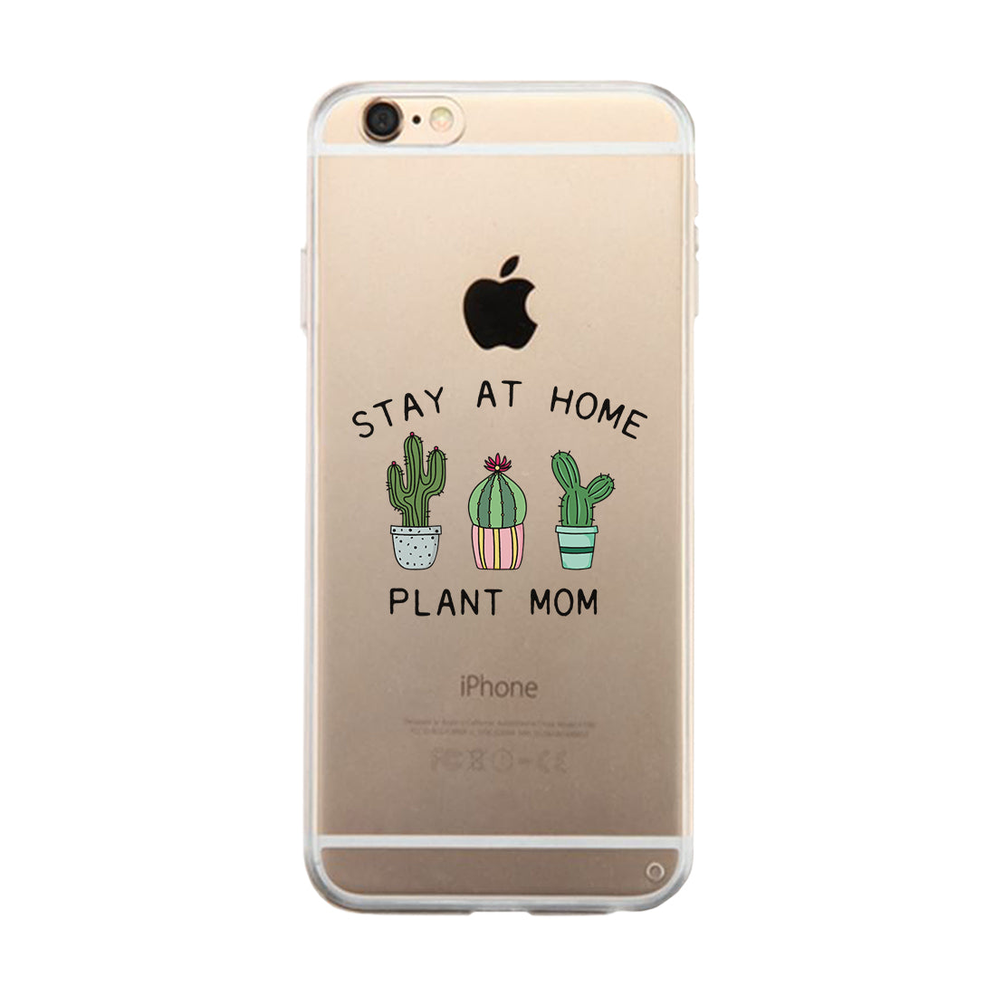 Stay At Home Plant Mom Clear Phone Case Birthday Gifts