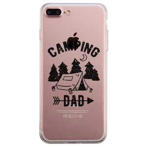 Camping Dad Clear Case Motivational Inspirational Lucky For Dads