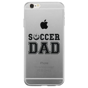 Soccer Dad Clear Case Passionate Committed Fun Fathers Day Dad Gift