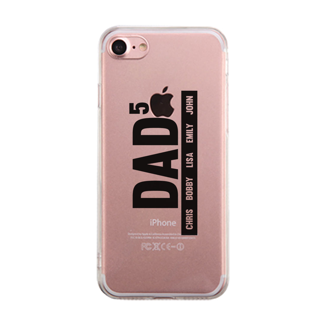 detailed look 84932 14ebb Dad Number Of Children Custom Personalized Clear Phone Case