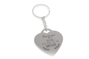 Thank You for Raising the Man of My Dreams Key Chain Gift for Mother in Law - 365INLOVE