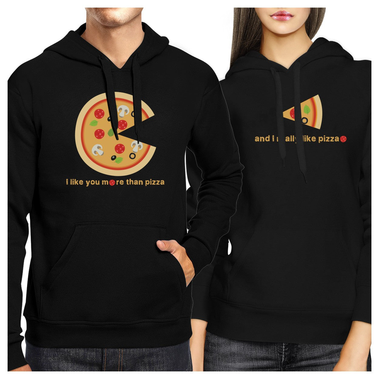 cf4f2d2caf I Like You More Than Pizza Couple Hoodies Valentines Day Gift Idea -  365INLOVE