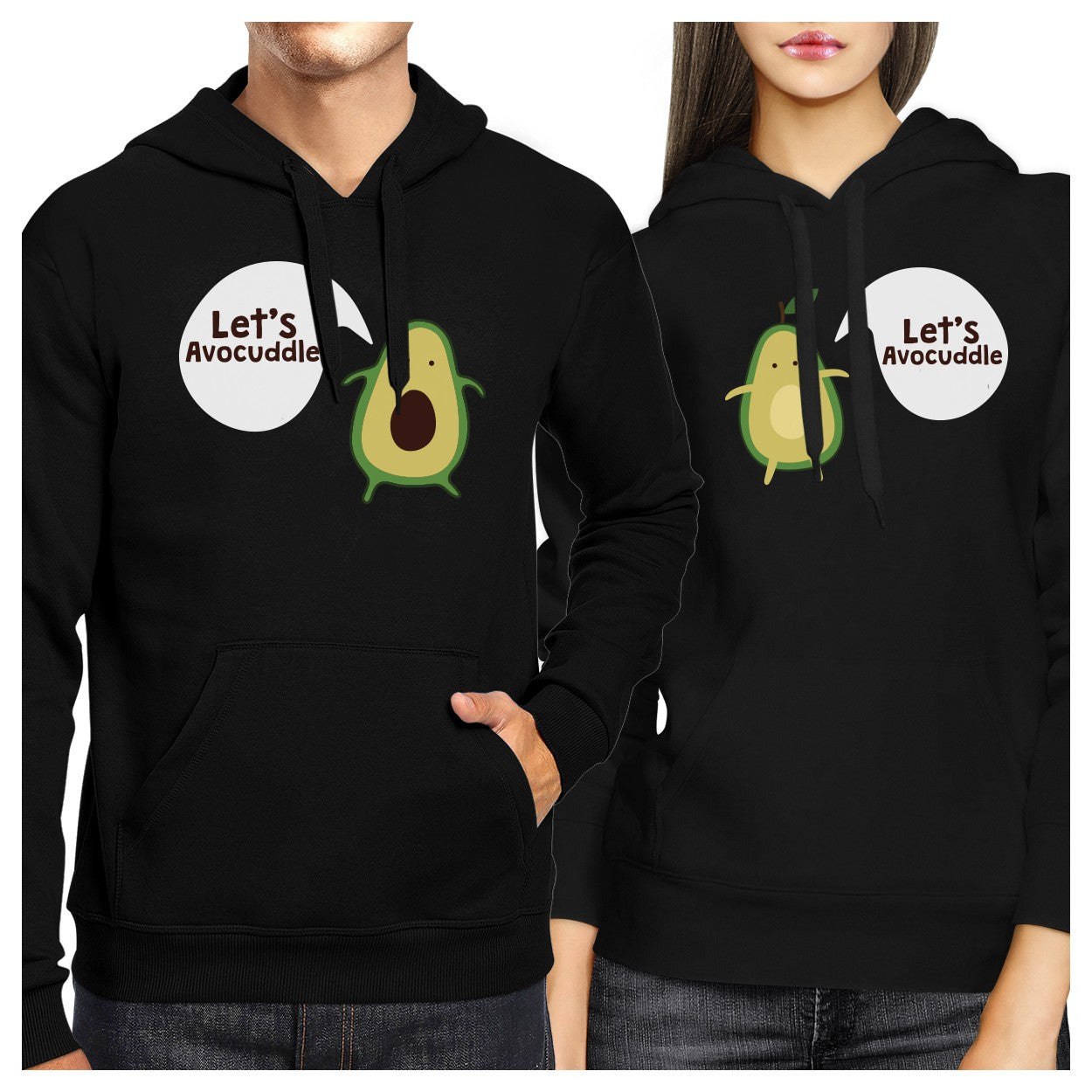 81454dc387 Let's Avocuddle Couple Hoodies His And Hers Matching Holiday Gifts -  365INLOVE
