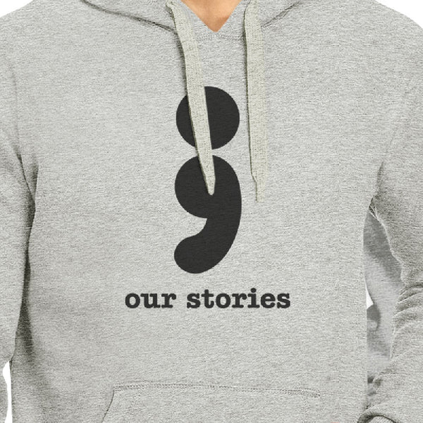 7f45e8b3a2a45d Our Stories Will Never End Matching Couple Grey Hoodie - 365 IN LOVE -  Matching Gifts Ideas