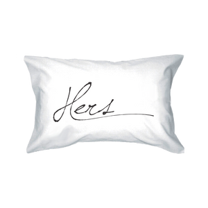 his and hers couple pillow covers