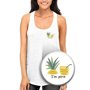 I'm Pine Funny Pocket Print Tank Top