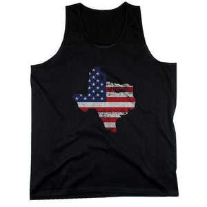 TX State USA Flag Men's Tank Top