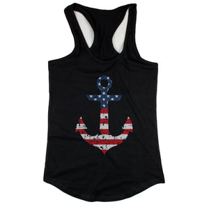 Red White Blue Anchor Women's Tank Top