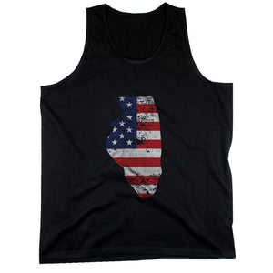 IL State USA Flag Men's Tank Top