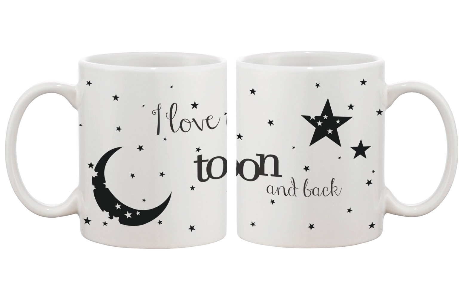 I Love You To The Moon And Back Matching Couple Mugs 365 In Love Matching Gifts Ideas