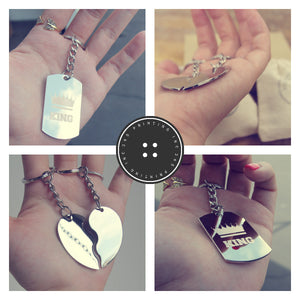 Hubby and Wifey Couple Key Chain- His and Hers Key Rings, Couple Keychains - 365INLOVE