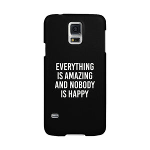 Nobody Happy Black Slim Fit Cute Phone Cases For Apple, Samsung Galaxy, LG, HTC - 365INLOVE