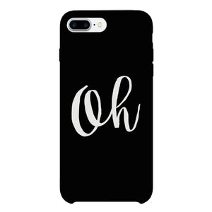 Oh Black Ultra Slim Cute Design Phone Cases For Apple, Samsung Galaxy, LG, HTC - 365INLOVE