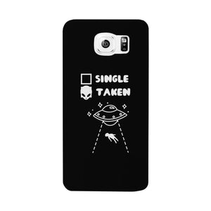 Single Taken Alien Black Phone Case Funny Graphic Case - 365INLOVE
