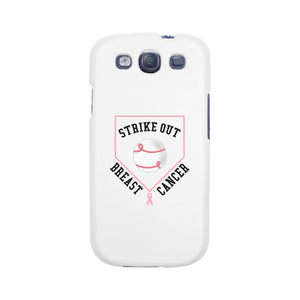 Strike Out Breast Cancer Baseball White Phone Case