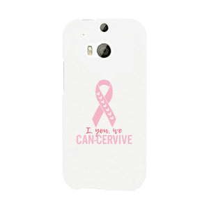I You We Can-Cervive Breast Cancer White Phone Case