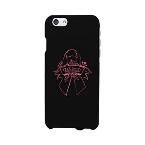Warrior Breast Cancer Awareness Black Phone Case