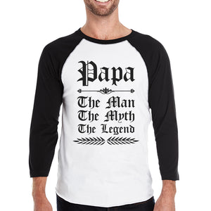 Vintage Gothic Papa Mens Baseball Shirt Lovely Fathers Day Gift
