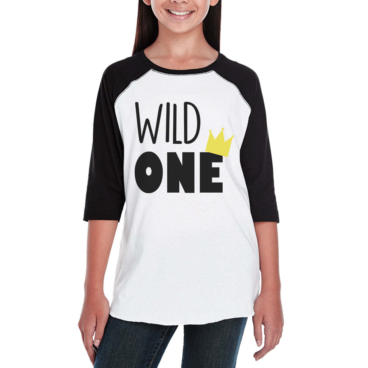 7c9af76fc Wild One Crown Kids Black And White BaseBall Shirt - 365 IN LOVE ...
