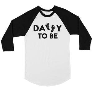 Daddy To Be Mens Baseball Shirt