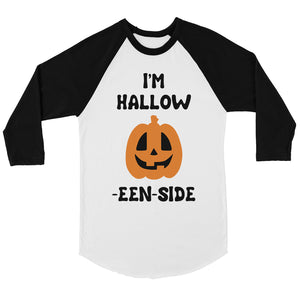 Hollow Inside Pumpkin Womens Baseball Tee
