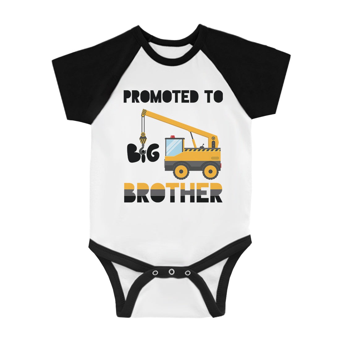 87566dab Promoted To Big Brother Infant Baseball Shirt Baby Announment Tee ...
