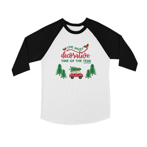 Decorative Christmas Time BKWT Kids Baseball Shirt